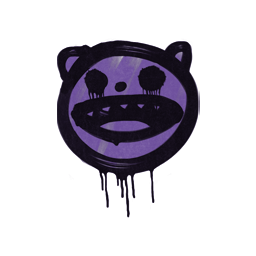 Sealed Graffiti | Happy Cat (Monster Purple)