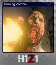 Burning Zombie (Металлическая)