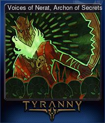 Voices of Nerat, Archon of Secrets