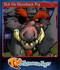 Bull the Razorback Pig