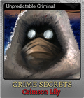 Unpredictable Criminal
