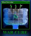 Blue fire cube