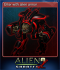 Biter with alien armor