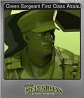 Green Sergeant First Class Assault