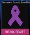 I Am Against Domestic Abuse Ribbon