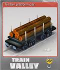 Timber platform car
