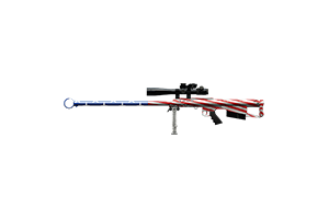 Thanatos 50 Cal Sniper Rifle Piercing Patriot Lightly Marked Stat Boost