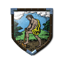 Coat of Arms - Yellow Farmer