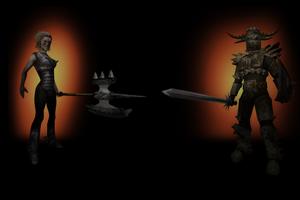 Boar Rider And Knight