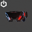 Cyber Punk Visor Closed | Red
