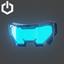 Cyber Punk Visor Open | Blue