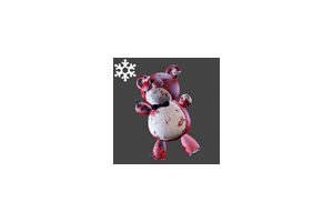 Christmas Teddybear Backpack Red