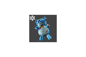 Christmas Teddybear Backpack Blue