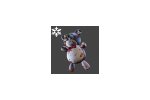 Christmas Teddybear Backpack Brown
