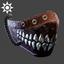 Steampunk   Mandible Mask   Chrome
