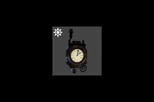 Steampunk Chimney Clock Warm Glow