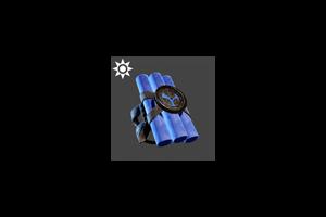Steampunk Dynamite Arm Band Blue