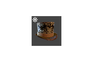 Steampunk Top Hat Brown