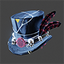 Space Pirate   Feathered Top Hat   Black
