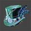 Space Pirate | Feathered Top Hat | Green