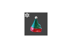 Christmas Slasher Hat Green