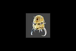 Samurai Gas Mask Gold