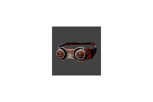Psycho Pain Goggles Closed Rusted Iron