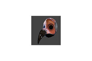 Plague Doctor Mask Red