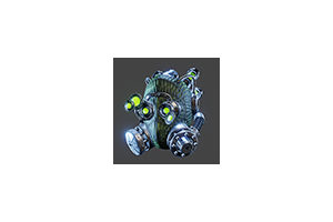 Insectoid Helmet Goggles Down Green