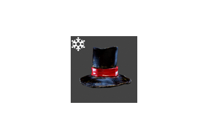 Christmas Husk Hat Black