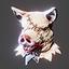 Halloween | Boar Head | White