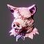 Halloween | Boar Head | Pink
