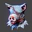 Halloween | Boar Head | Blue