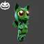 Halloween | Bat Cat Backpack | Green