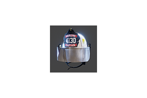 Firefighter Helmet Mask Down White