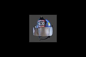 Firefighter Helmet Mask Down Blue