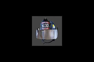Firefighter Helmet Mask Down Black