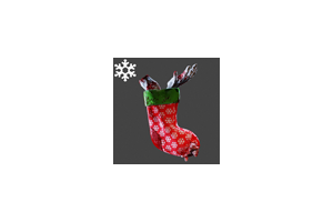 Christmas Gore Stocking Backpack Red