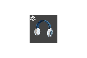 Christmas Ear Muffs Blue