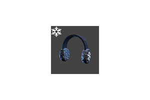 Christmas Ear Muffs Black