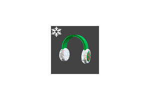Christmas Ear Muffs Green