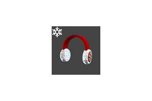 Christmas Ear Muffs Red