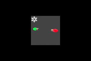 Christmas Ear Bulbs Red Green