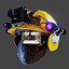 Bloody Games Helmet | Yellow
