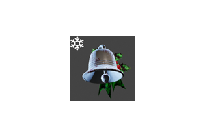 Christmas Bell Backpack Silver