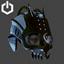 Cyberpunk | Skull Helm | Jet Black