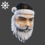 Christmas | Naughty Santa Mask | Dark Grey