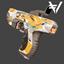 HMTech-101 Pistol | Vault | Orange Camo | Battle-Scarred