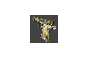 M1911 Neon Battle Scarred