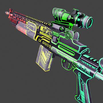Steam Community Market Listings For M14ebr Neon Rgb Precious
